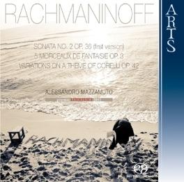 SONATA NO.2 OP.36 ALESSANDRO MAZZAMUTO S. RACHMANINOV, CD
