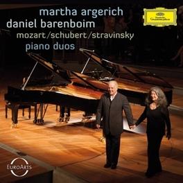 PIANO DUOS MOZART/SCHUBERT/STRAVINSKY ARGERICH, MARTHA/DANIEL B, Audio Visuele Media