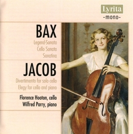 MUSIC FOR CELLO & PIANO FLORENCE HOOTON, CELLO/WILFRED PARRY, PIANO Audio CD, BAX & JACOB, CD