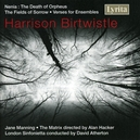 DEATH OF ORPHEUS/FIELDS O LONDON SINFONIETTA, MATRIX/DAVID ATHERTON/JANE MANNING