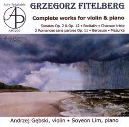 COMPLETE WORKS FOR VIOLIN KIM GEBSKI G. FITELBERG, CD