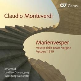 MARIENVESPER LAUTTEN COMPAGNEY/KATSCHNER C. MONTEVERDI, CD