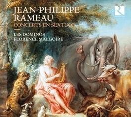 CONCERTS EN SEXTUOR LES DOMINOS/FLORENCE MALGOIRE J.P. RAMEAU, CD