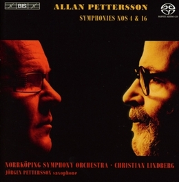 SYMPHONIES NO.4 & 16 NORRKOPING S.O./CHRISTIAN LINDBERG/J.PETTERSON A. PETTERSSON, CD