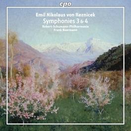 SYMPHONIES 3 & 4 ROBERT SCHUMANN PHILHARMONIE/FRANK BEERMANN E.N. VON REZNICEK, CD