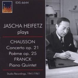 CONCERTO OP.21/PIANO QUIN JASCHA HEIFETZ/MUSICAL ART QUARTET/RCA S.O. CHAUSSON/FRANCK, CD