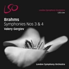 SYMPHONIES 3 & 4 L.S.O./VALERY GERGIEV J. BRAHMS, CD