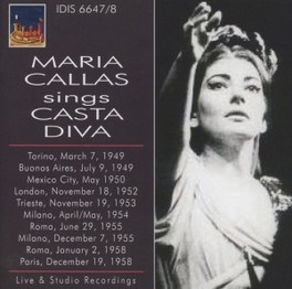 SINGS CASTA DIVA WORKS BY BELLINI MARIA CALLAS, CD