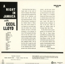 A NIGHT IN JAMAICA WITH C CECIL LLOYD