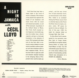 A NIGHT IN JAMAICA WITH C CECIL LLOYD CECIL LLOYD, CD