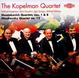 QUARTETS NOS. 1 & 8 WORKS BY SHOSTAKOVICH/MIASKOVSKY Audio CD, KOPELMAN QUARTET, CD