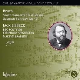 VIOLIN CONCERTO NO.3 BBC SCOTTISH ORCHESTRA/MARTYN BRABBINS/LIEBECK M. BRUCH, CD