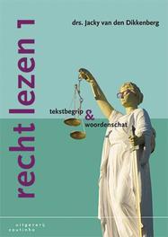Recht lezen 1 tekstbegrip en woordenschat, Van den Dikkenberg, Jacky, Paperback