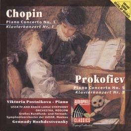 PIANO CONCERTO NO.1 IN E MINOR OP.11 W/V.POSTNIKOVA/USSR TV & RADIO LARGE SO MOS Audio CD, CHOPIN/PROKOFIEV, CD