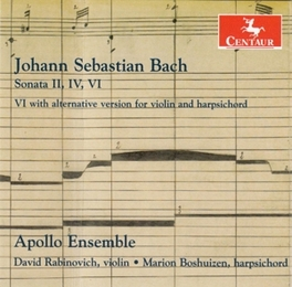 SONATAS FOR VIOLIN &.. APOLLO ENSEMBLE J.S. BACH, CD