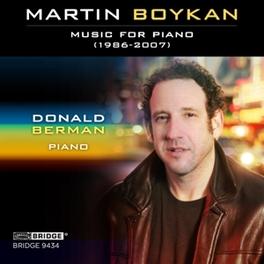 MUSIC FOR PIANO DONALD BERMAN M. BOYKAN, CD