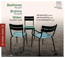 TRIOS MANASSE/NAKAMATSU BEETHOVEN/BRAHMS, CD