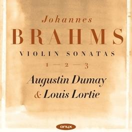 VIOLIN SONATAS 1-3 DUMAY/LORTIE J. BRAHMS, CD