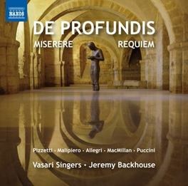 DE PRODFUNDIS:MISERERE.. JEREMY BACKHOUSE VASARI SINGERS, CD