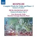 COMPLETE WORKS FOR VIOLIN EMY BERNECOLI/MASSIMO GIUSEPPE BIANCHI