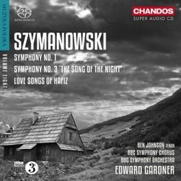 SYMPHONIES NO.1 & 3 BBC SYMPHONY ORCHESTRA/EDWARD GARDNER K. SZYMANOWSKY, CD
