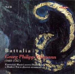 ESSERCIZII MUSICI OVERO D ENSEMBLE BATTALIA/SOLOS & TRIO 7-12 G.P. TELEMANN, CD
