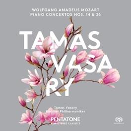 PIANO CONCERTOS NO.14 & 2 BERLINER PHILHARMONIKER/TAMAS VASARY W.A. MOZART, CD