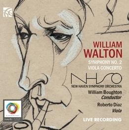 SYMPHONY NO.2 NEW HAVEN S.O./WILLIAM BOUGHTON W. WALTON, CD