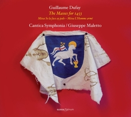 MASSES FOR 1453 CANTICA SYMPHONIA/GIUSEPPE MALETTO G. DUFAY, CD