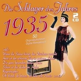 DIE SCHLAGER DES JAHRES35 .. 1935 V/A, CD