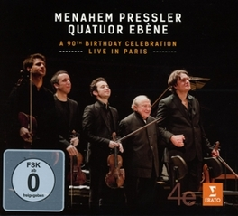 A 90TH.. -CD+DVD- LIVE IN PARIS PRESSLER/QUATUOR EBENE, CD