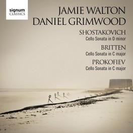 CELLO SONATAS SHOSTAKOVICH/BRITTEN/PROKOFIEV WALTON/GRIMWOOD, CD
