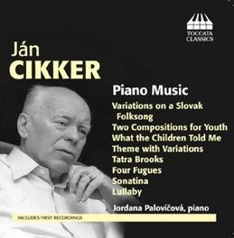 PIANO MUSIC JORDANA PALOVICOVA J. CIKKER, CD