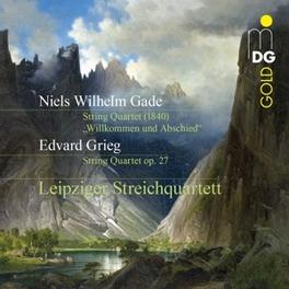 WILKOMMEN UND ABSCHIED LEIPZIGER STREICHQUARTETT GRIEG/GADE, CD