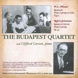 BUDAPEST QUARTET PLAY.. .. MOZART//CURZON, CLIFFORD/THE BUDAPEST QUART Audio CD, MOZART/SCHUMANN, CD