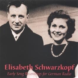 EARLY SONG RECORDINGS.. .. FOR GERMAN RADIO//KLEMPERER, O. Audio CD, SCHWARZKOPF, CD