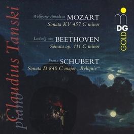 SONATAS CLAUDIUS TANSKI MOZART/BEETHOVEN/SCHUBERT, CD