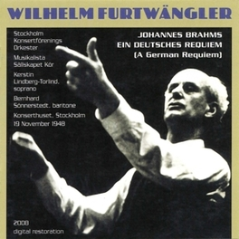 EIN DEUTSCHES REQUIEM W.FURTWANGLER Audio CD, J. BRAHMS, CD