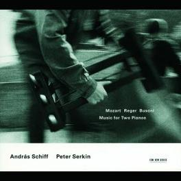 MUSIC FOR TWO PIANOS SCHIFF/SERKIN Audio CD, MOZART/REGER/BUSONI, CD