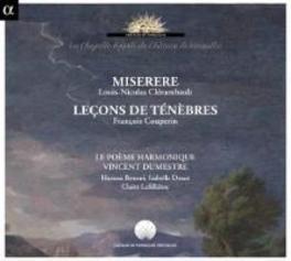 MISERERE/LECONS DE TENEBR LE POEME HARMONIQUE/VINCENT DUMESTRE CLERAMBAULT/COUPERIN, CD
