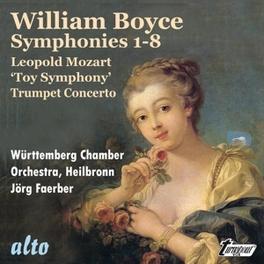 SYMPHONIES 1-8/TOY SYMPHO WURTTEMBERG CHAMBER ORCHESTRA BOYCE/L.MOZART, CD