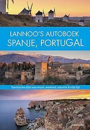 Lannoo's autoboek Spanje/Portugal toeristische atlas voor reizen, weekend, vakantie & vrije tijd, Hardcover
