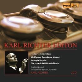 EDITION:FLUTE CONCERTOS AURELE NICOLET//WORKS BY MOZART/HAYDN/GLUCK KARL RICHTER, CD