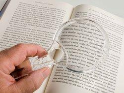 Leesvergrootglas, 2x vergroting, rondformaat, diameter 7,5 cm