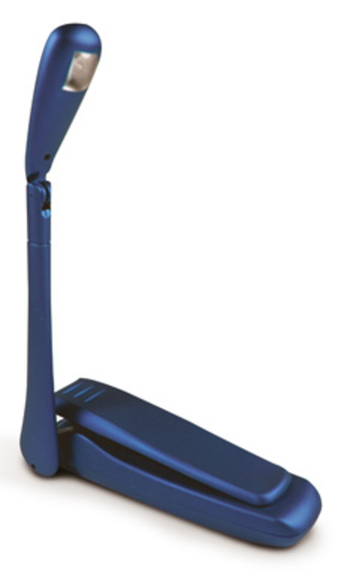 Leeslamp LED op Clip, blauwe uitvoering HW