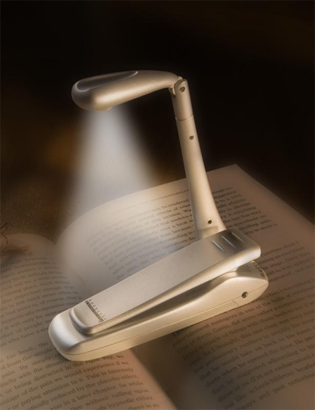 Leeslamp LED op Clip, zilvere uitvoering HW