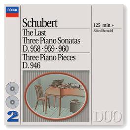 LAST 3 PIANO SONATAS ...D958-960 & D946/W/ALFRED BRENDEL-PIANO Audio CD, F. SCHUBERT, CD