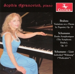 PAGANINI VARIATIONS BOOK SOPHIA AGRANOVICH BRAHMS/SCHUMANN, CD