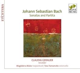 SONATAS AND PARTITA CLAUDIA GERAUER/MAGDALENA MALEC/TORU YAMAMOTO J.S. BACH, CD
