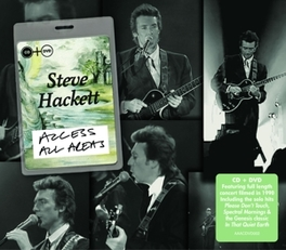 ACCESS ALL AREAS -CD+DVD- RECORDED FOR IT ITV, RELEASED FOR THE FIRST TIME STEVE HACKETT, CD